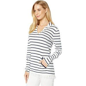 Lilly Pulitzer Striped Sweater Fringed Coolmax M